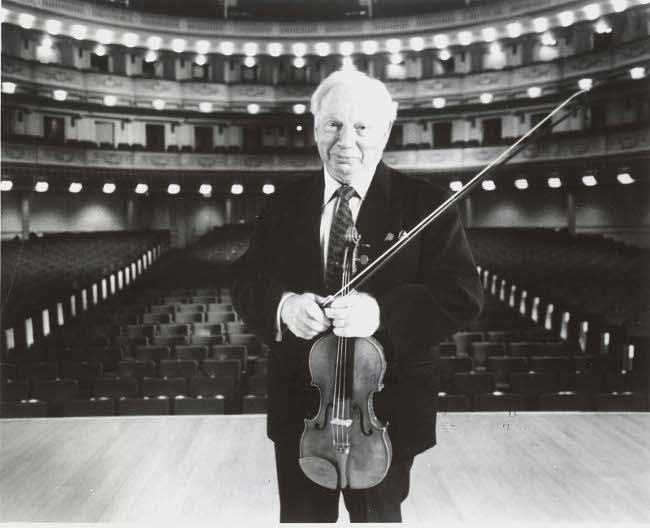 Isaac Stern on stage